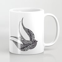 swallow Mugs featuring SWALLOW by silb_ck