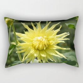 Yellow Dahlia close up Rectangular Pillow