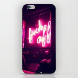 Fuck Off Neon Lights iPhone Skin
