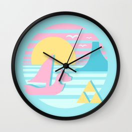 Great Sea Sunset Wall Clock