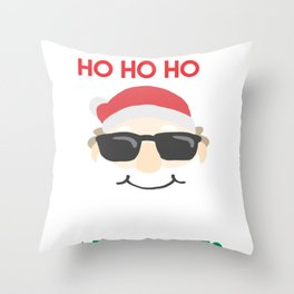 Christmas - I've got Ho Ho Ho's In Different Area Codes (Dark) Throw Pillow