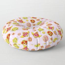 sailor moon magical brooch  Floor Pillow