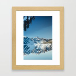 Crater Reflection Framed Art Print