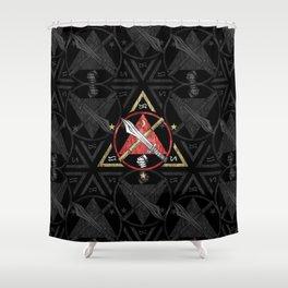 Kali - Eskrima - Arnis,  Filipino Martial Arts, fight stick, Shower Curtain