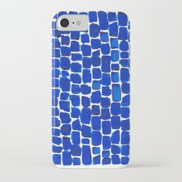 Brick Stroke Blue iPhone Case