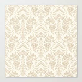 Damask Pattern Canvas Print