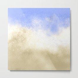 Ocean Waves Abstract Metal Print