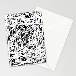 Whispers In the Dark - Black and White Abstract Stationery Cards