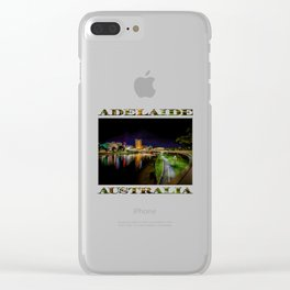 Adelaide Riverbank at Night IV Clear iPhone Case