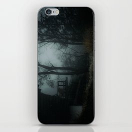 Fog in the woods iPhone Skin