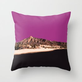 Marbella Orchid Throw Pillow