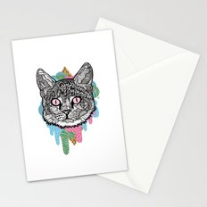 DRIPPY CAT Stationery Cards