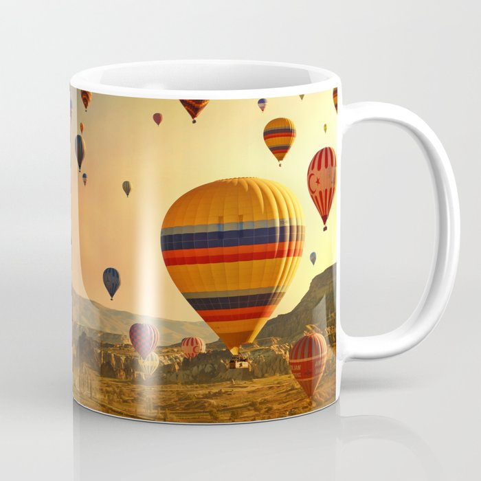 00b429b7cad Hot Air Balloons at Sunrise in Cappadocia Coffee Mug by fesign ...