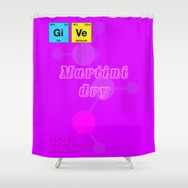 Martini Dry Shower Curtain