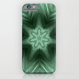Green Star Flower Blossom Metallic Color #Pattern #Background iPhone Case