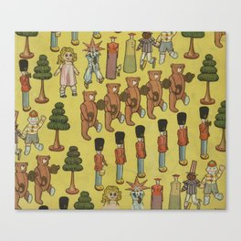 Vintage Christmas Toys and Nut Crackers (1906) Canvas Print