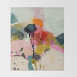 paysage abstract Throw Blanket