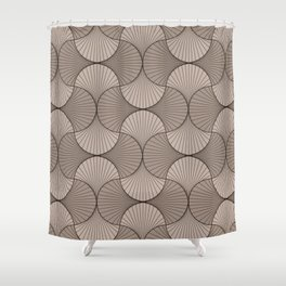 Gingko - Minimal Flower Leaves Beige Shower Curtain