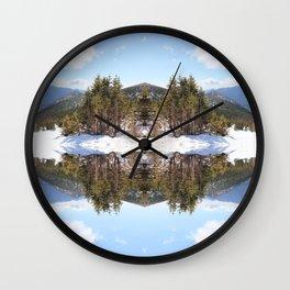 Snowside | Colorado Mountains Wall Clock