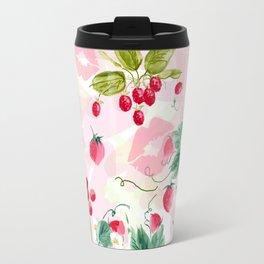 strawberries w kisses Travel Mug