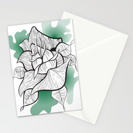 Neo-Traditional Zebra Rose Stationery Cards