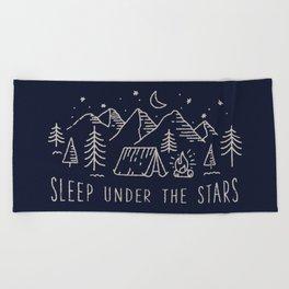 Sleep under the stars Beach Towel