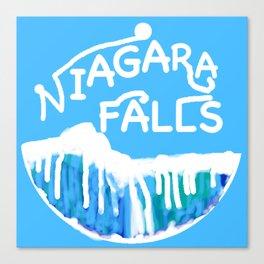 Niagara Falls Circle Canvas Print