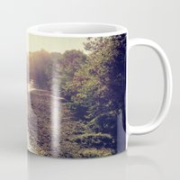 river Mugs featuring River by Spencer Martin