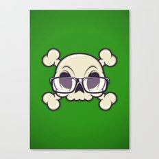 Nerd Skull Canvas Print
