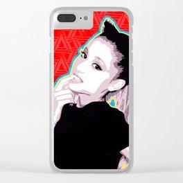 Ariana | Pop Art Clear iPhone Case