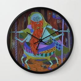 The Spider Wizard Wall Clock