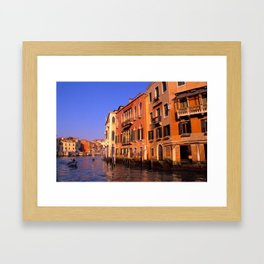 View of Canal Grande - Venice, Italy Framed Art Print