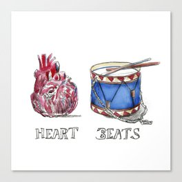 heart beats Canvas Print