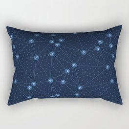 Arrow dot directional network. Web pointer background. Rectangular Pillow