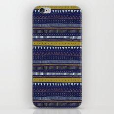 Dark Blue Pattern iPhone & iPod Skin