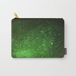 Green and Black Spray Paint Splatter Carry-All Pouch