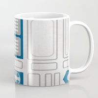 r2d2 Mugs featuring R2D2 by Alison Lee
