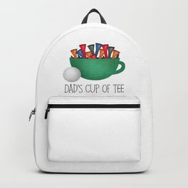Dad's Cup Of Tee Backpack