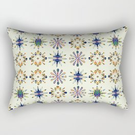 Geometric Patterned Flowers Rectangular Pillow