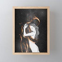 I'm burning into you. Framed Mini Art Print