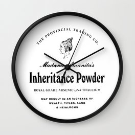 Inheritance Powder Wall Clock
