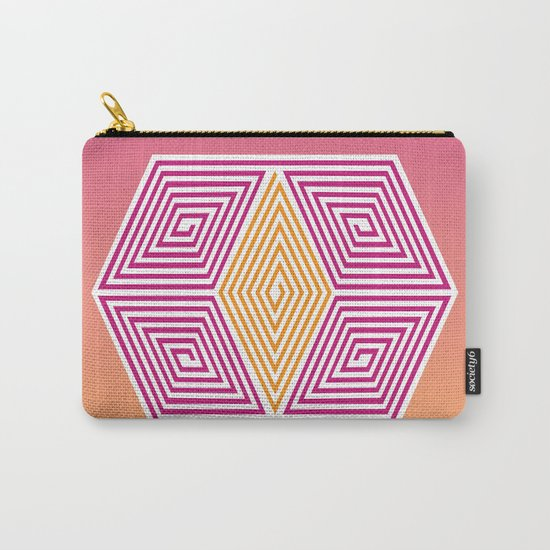 Geometric lines Carry-All Pouch