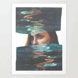 overwhelm Art Print