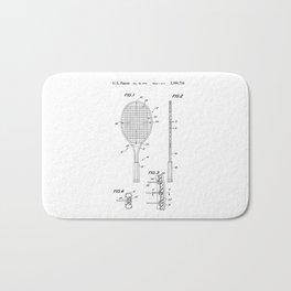 Tennis Racket Patent Bath Mat