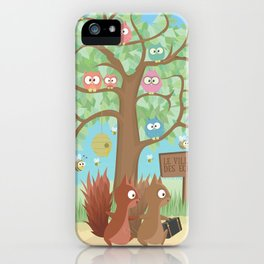 Joe Noisette | On its Way to the Squirrel Village iPhone Case