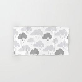 Weather Rain Cloud Never Ending Grey & Dark Grey Hand & Bath Towel