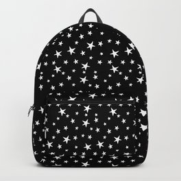 Mini Stars - White on Black Backpack
