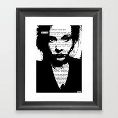 A Tear Fell Framed Art Print