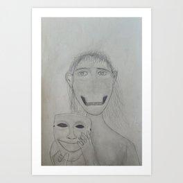 Hidden Demon on Paper Art Print