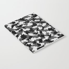 Camouflage Digital Black and White Notebook
